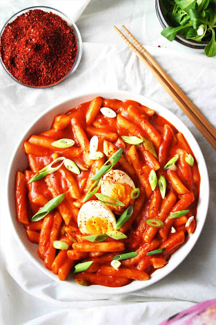 korean street food, tteokbokki